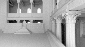 3D classical corinthian column