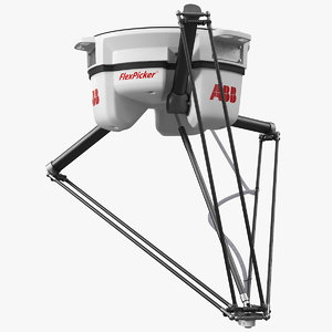 parallel robot abb irb 3D model
