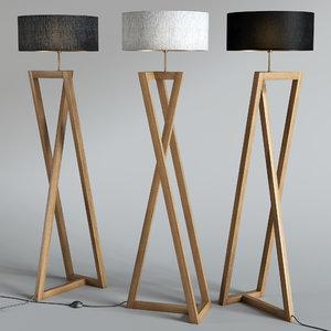 3D lampara pie model