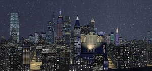 3D night manhattan 2