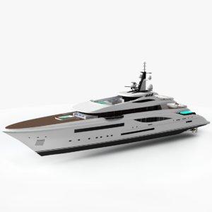 3D griffin fincantieri yachts 66 model