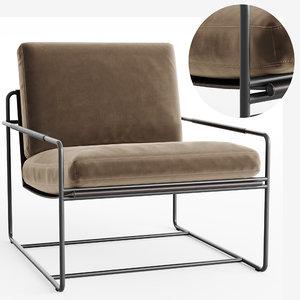 riviera armchair 3D model