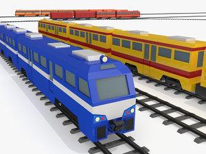 3D train rail - model