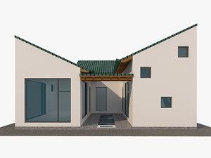 modern japanese house small 3D model