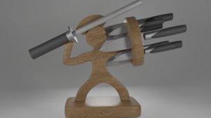 3D knife holder model
