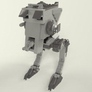3D lego at-st walker