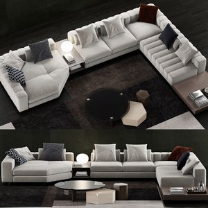 minotti freeman duvet sofa model