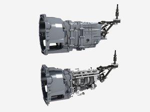 3D gearbox model