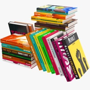 real modern books 3D model