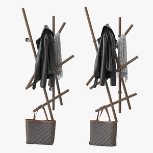 3D porada sketch coat rack