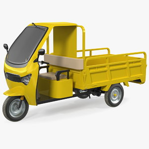 3D electric cargo tricycle rickshaw model