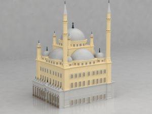mohamed ali mosque 3D model