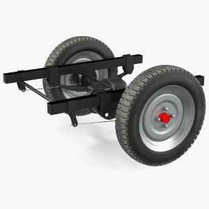 3D tricycle rear axle dc motor