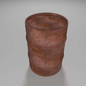 3D explosive barrel model