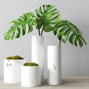 3D marble vessel decorative model