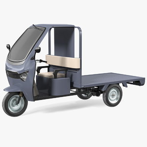 wheeler cargo rickshaw 3D