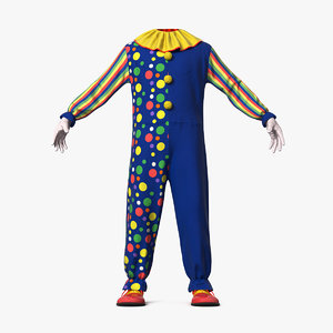 3D toddler clown costume model