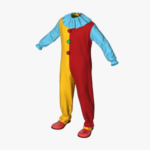 funny clown costume 3D