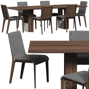 table chair dining 3D model