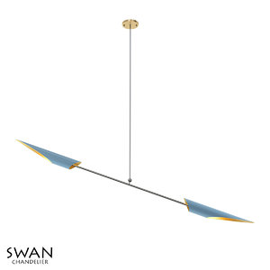 3D model chandelier lamp light