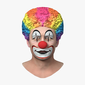 3D model funny clown head