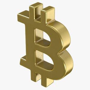 3D bitcoin symbol model