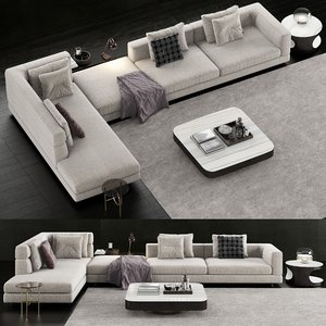 minotti alexander sofa coffee table 3D model