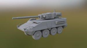 m1128 stryker mobile gun 3D