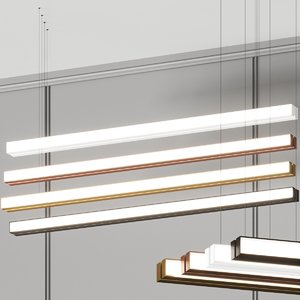 3D linear pendant lamp model