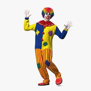 adult clown suit dancing model