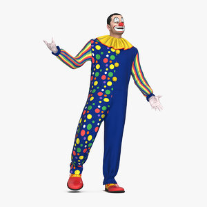 3D model funny clown standing pose