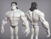 Cartoon male character Sam base mesh
