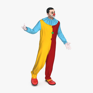 circus clown standing pose 3D model