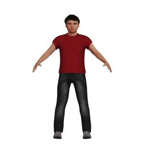 teenage male character model
