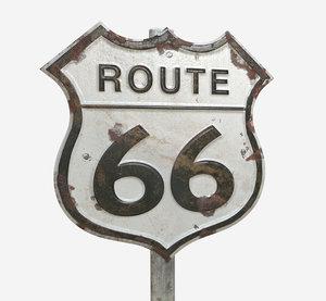 route 66 sign 3D