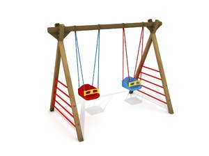 3D wood swing play