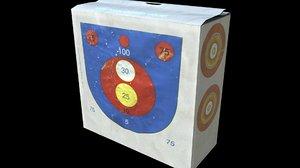 archery target 3D model