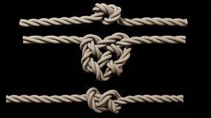 rope knots model