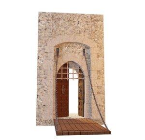 castle gate model