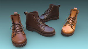 3D shoe boot footwear