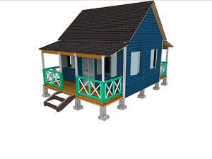 3D caribbean wood anglo
