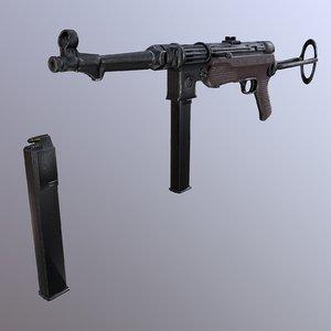 3D submachine gun mp 38