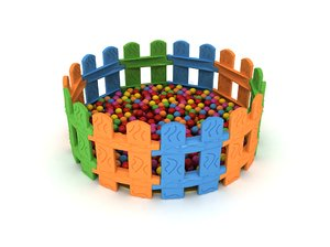 polythene ball pool play 3D model