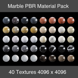 40 Marble Textures Material Pack PBR 4K