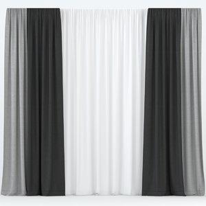 curtain tulle 3D model