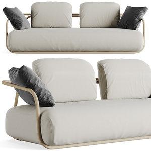 3D wood sofa