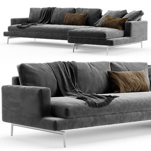 sofa larsen verzelloni 3D model