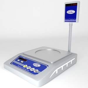 3D model price weighing scale