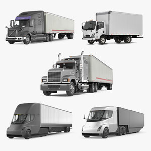 cargo trucks 3D