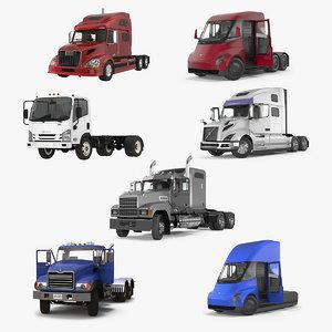 3D rigged trucks 2